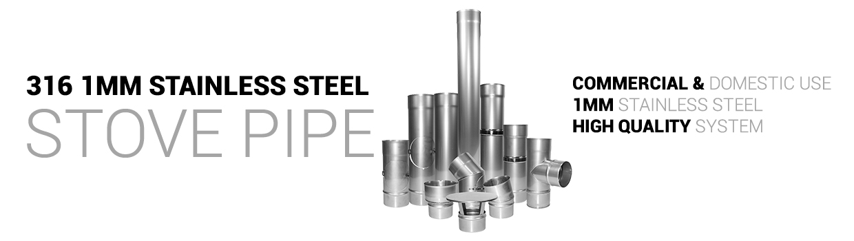 316 1mm stainless stove pipe